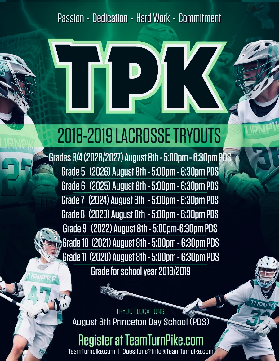 2018-2019 Team Turnpike Tryouts